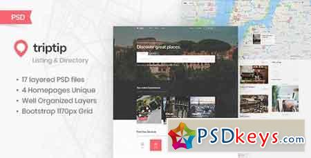 TripTip - Listing & Directory PSD Template 22976726