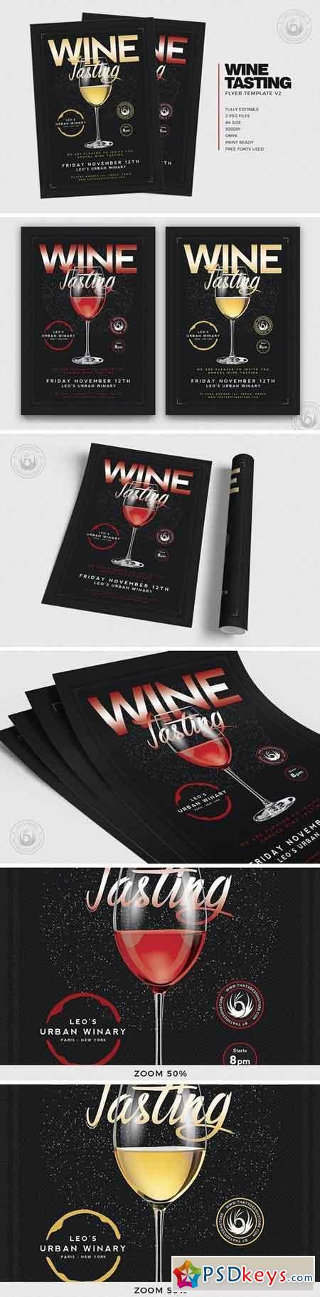 Wine Tasting Flyer Template V2 3218239