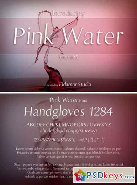 Pink Water Font 119428