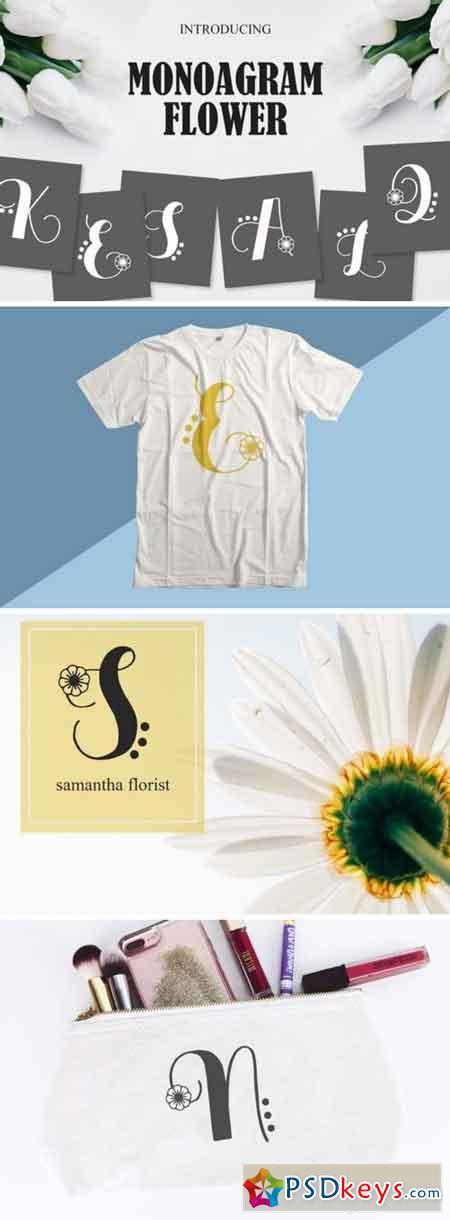 Monogram Flowers Font