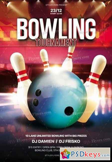Bowling PSD Flyer Template 2