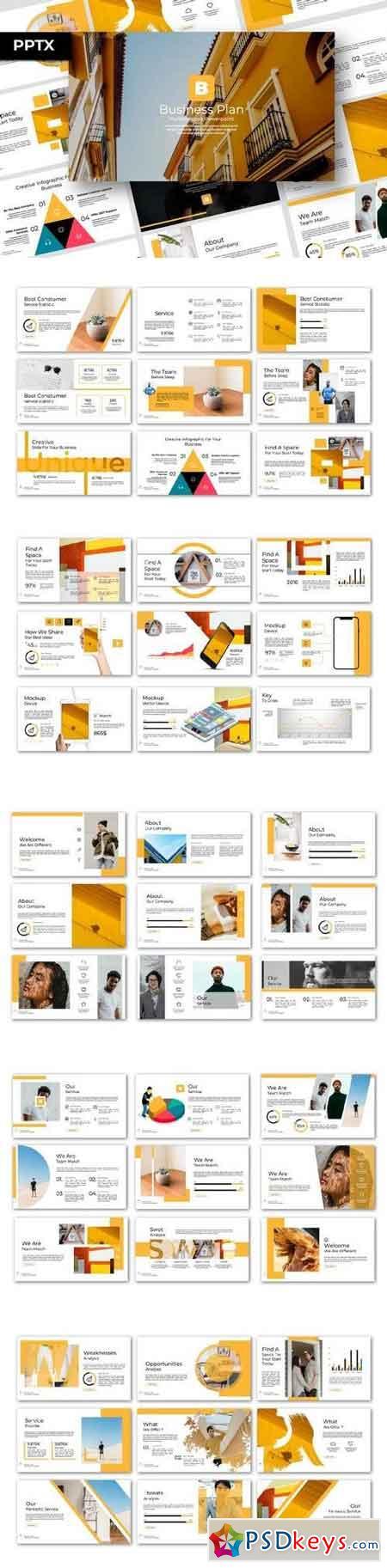 Business Plan - Powerpoint, Keynote, Google Sliders Templates