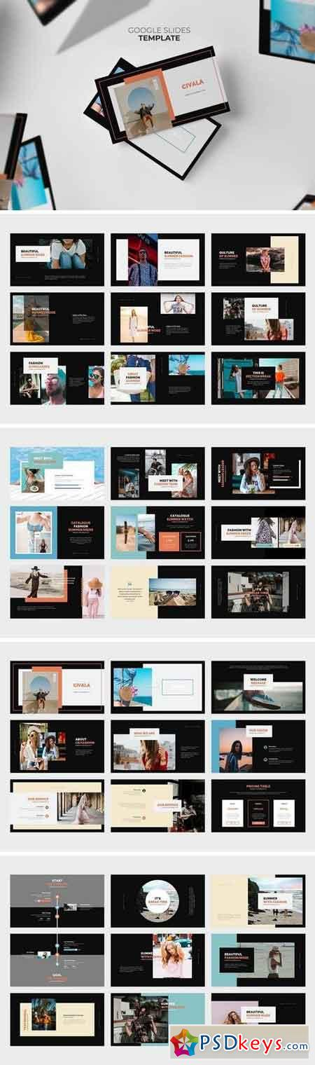 Civala Summer Fashion Google Slides Template