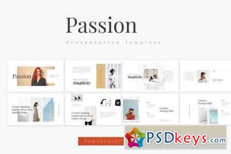 Passion - Fashion - Powerpoint, Keynote, Google Sliders Templates