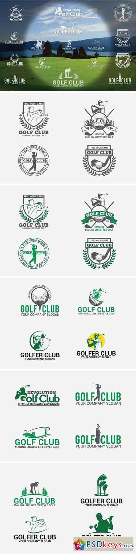 10 Golf Badges-Stickers & Logos 11871272