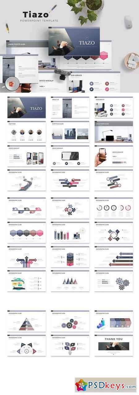 Tiazo - Powerpoint, Keynote, Google Sliders Templates