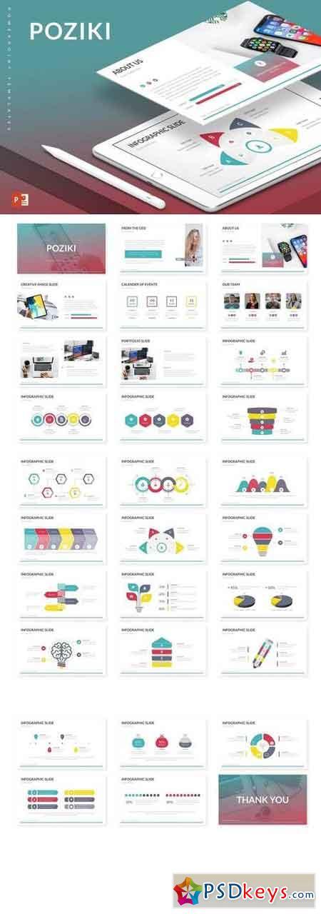 Poziki - Powerpoint, Keynote, Google Sliders Templates