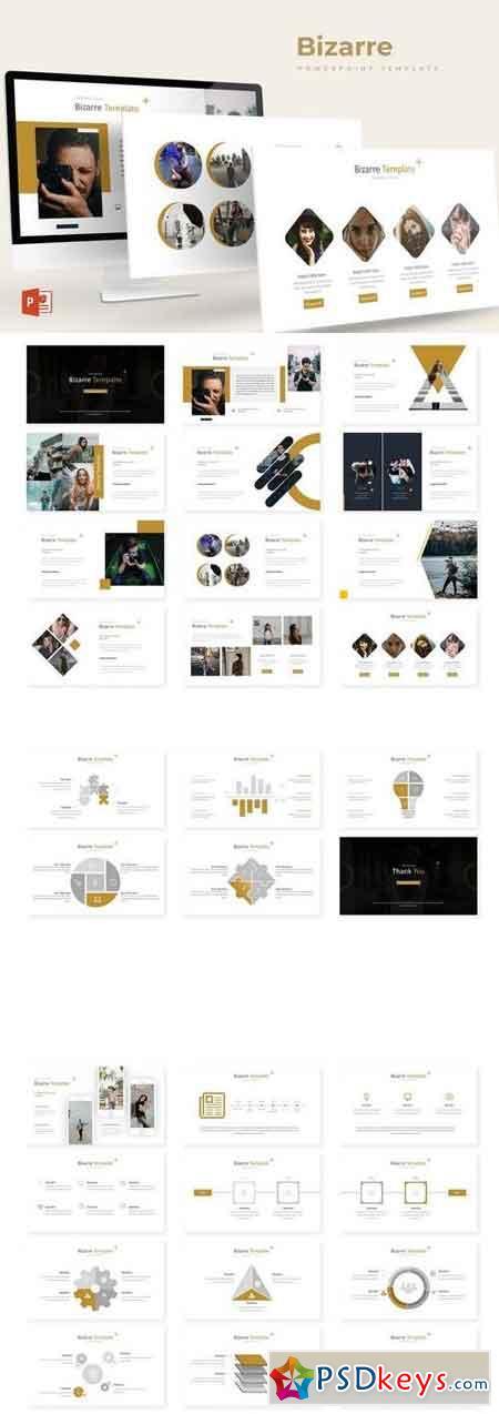 Bizzare - Powerpoint, Keynote, Google Sliders Templates