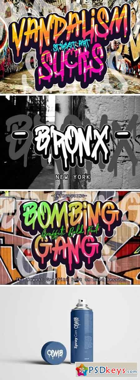 BOMBING GANG GRAFFITI BOLD FONT 177321
