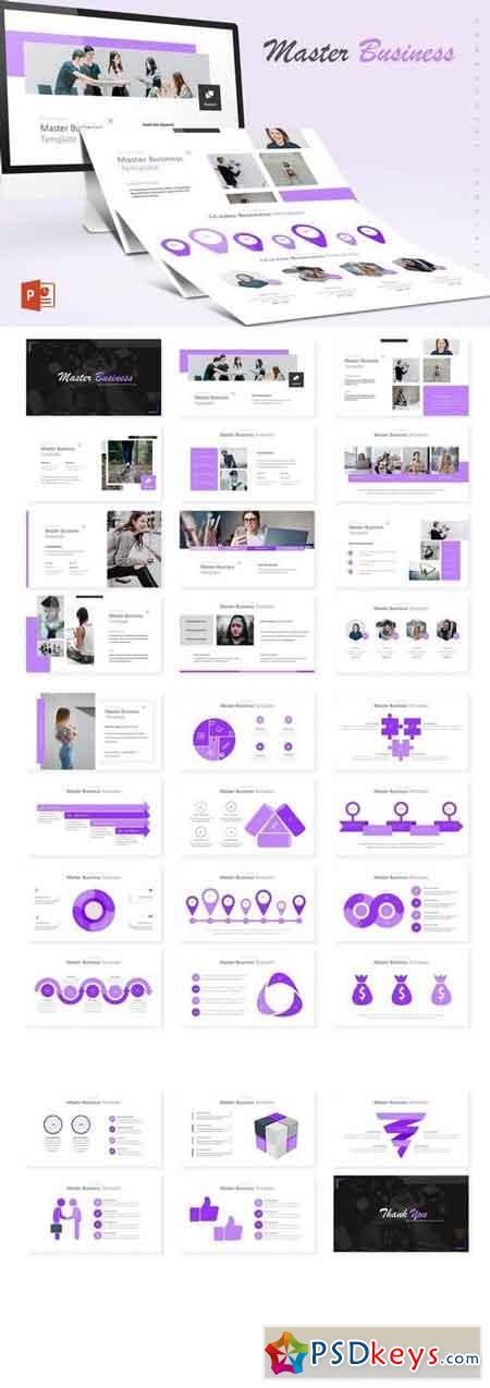 Master Business - Powerpoint, Keynote, Google Sliders Templates