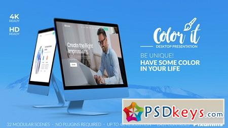 Videohive Color it - Desktop Presentation 22832756 After Effects Template