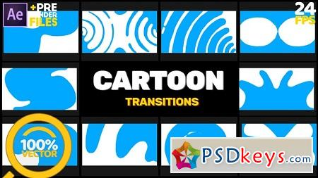 Motion Array - Cartoon Transitions After Effects Templates 148911