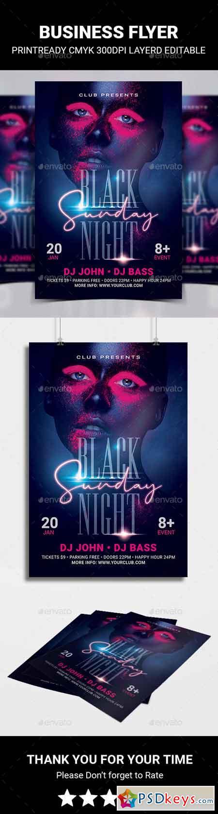 Black Night Sunday Flyer 22873061