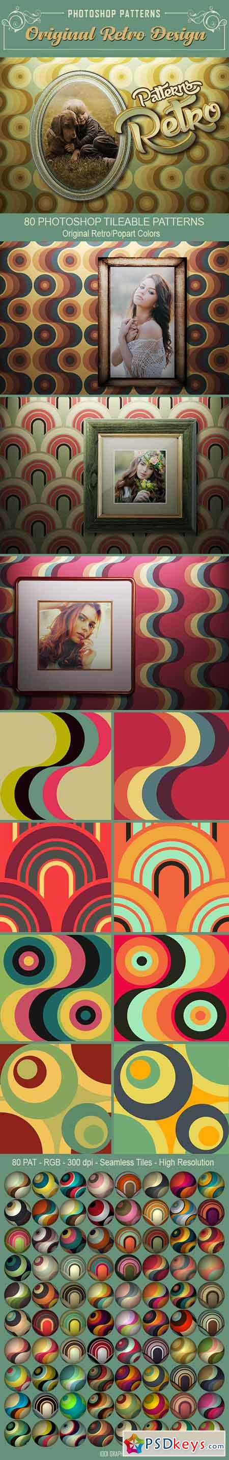 80 Retro Seamless Tile PS Patterns 22944452