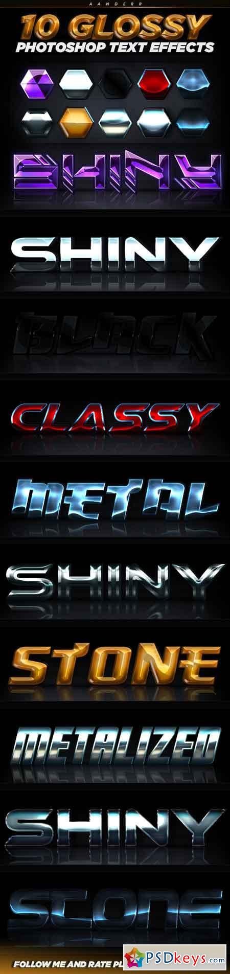 10 Glossy Photoshop Text Effects 22885599