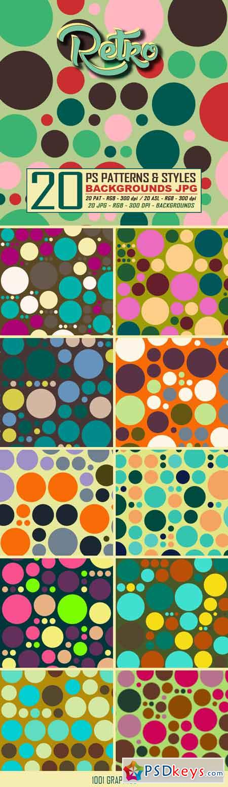 20 Retro Dots Patterns & Styles 22943219