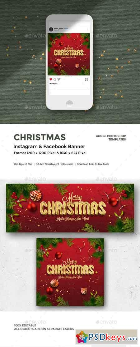 Christmas Facebook and Instagram Banner 22902441