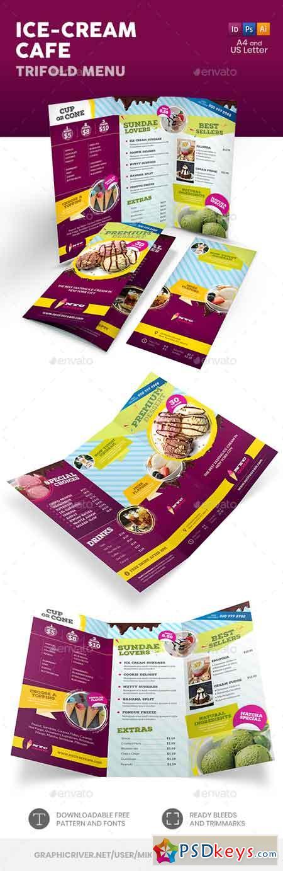 Ice Cream Cafe Trifold Menu 22877859