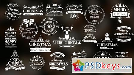Twenty Christmas Badges 22938212 After Effects Template