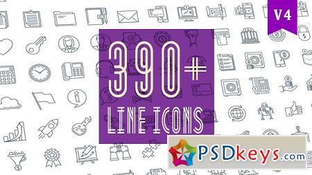 Line Icons Pack 390 Animated Icons 20236035 After Effects