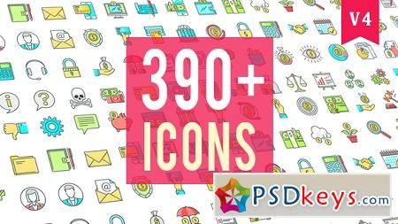 Icons Pack 390 Animated Icons 20235601 After Effects Template » Free