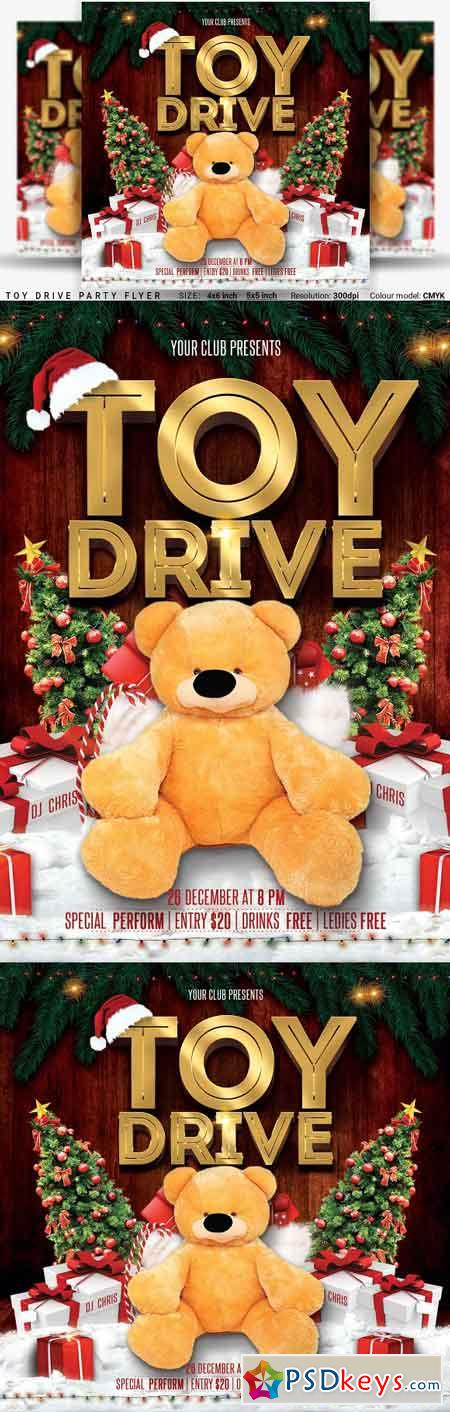 Toy Drive Party Flyer 3248281
