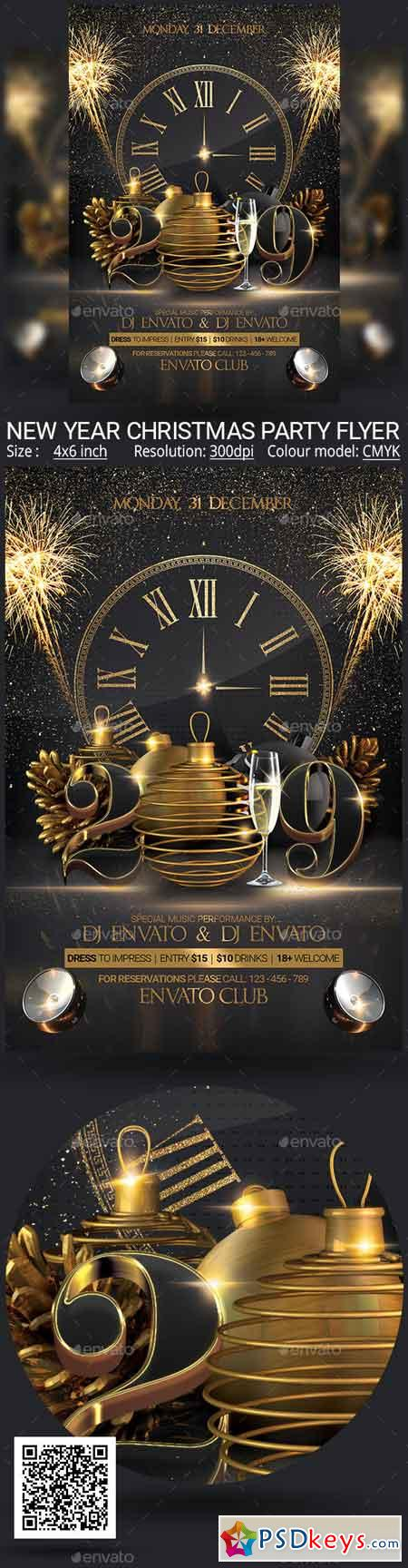 New Year Christmas Party Flyer 22951657