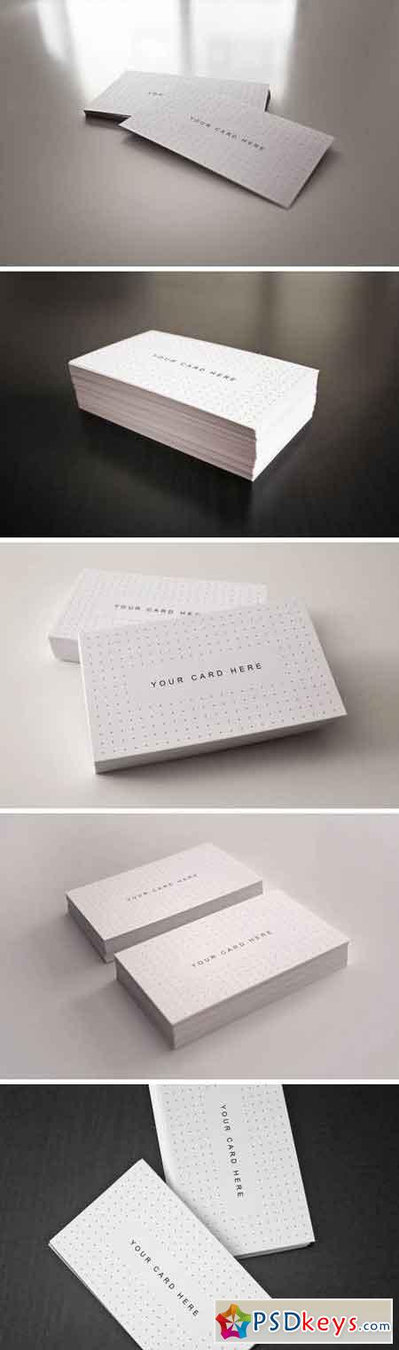 Flyer and Business Card Clean Realistic Mockups 2