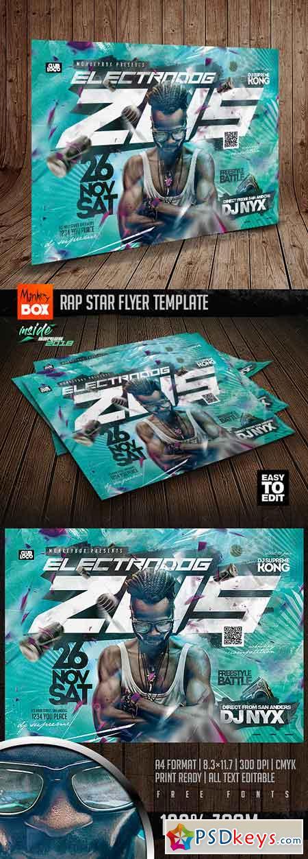 Rap Star Flyer Template 22878053
