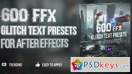 Motion Array - 600 Glitch Text Presets After Effects Presets 149467