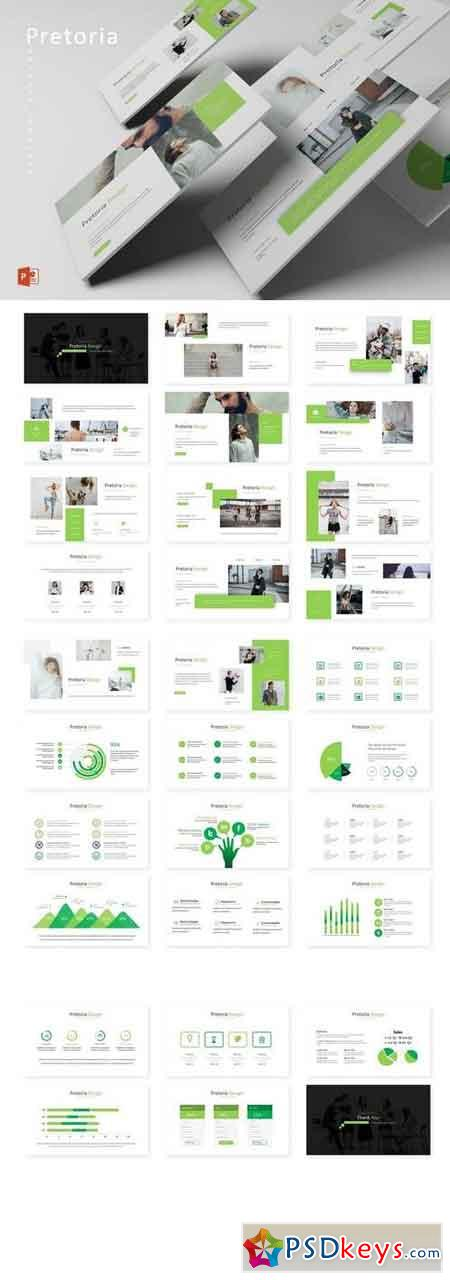 Pretoria - Powerpoint, Keynote, Google Sliders Templates
