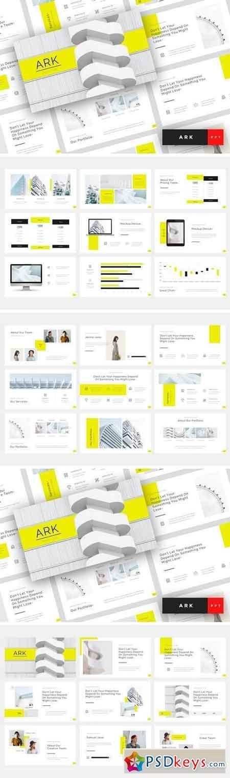Ark - Architecture Powerpoint, Keynote, Google Sliders Templates
