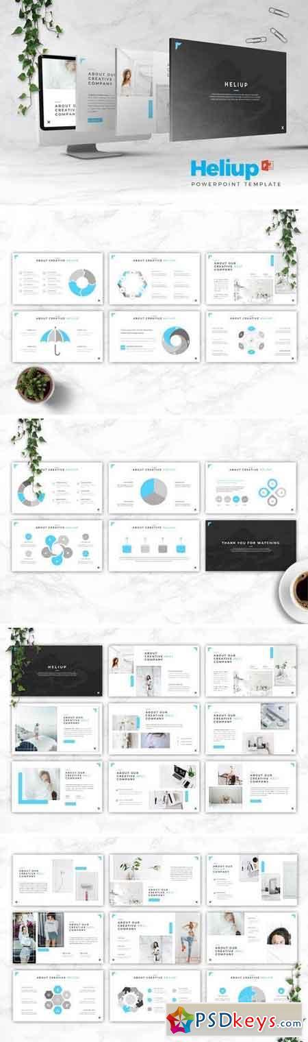 Heliup - Powerpoint, Keynote, Google Sliders Templates