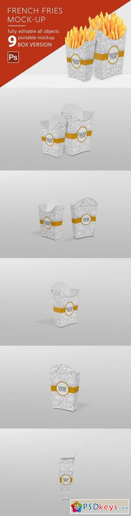 French Fries Mockup 2883085