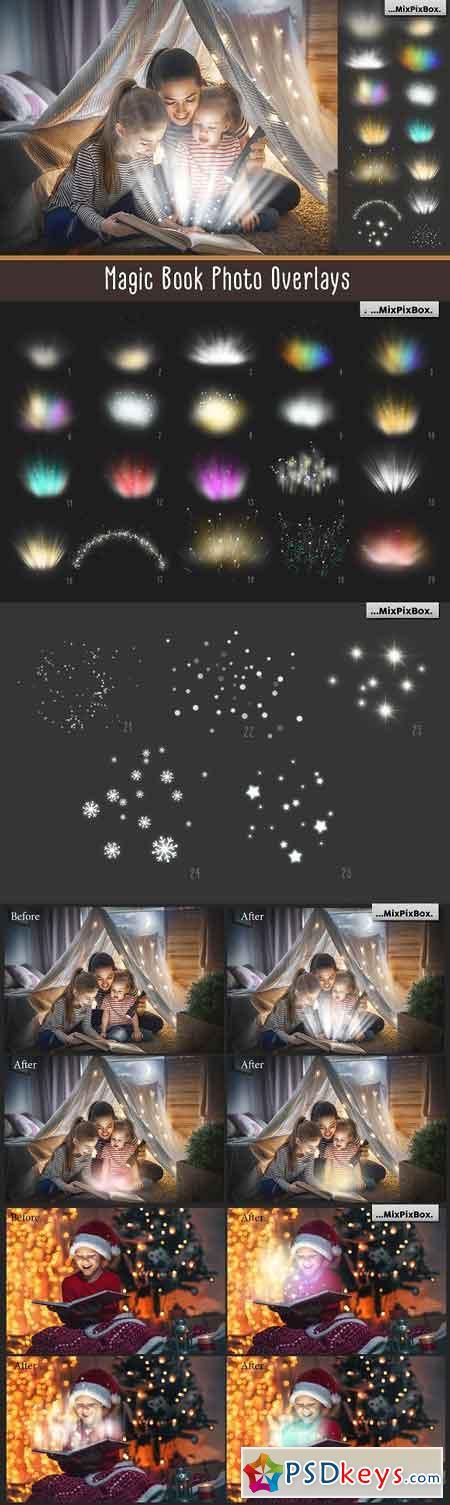 Magic Book Light Photo Overlays 3069587