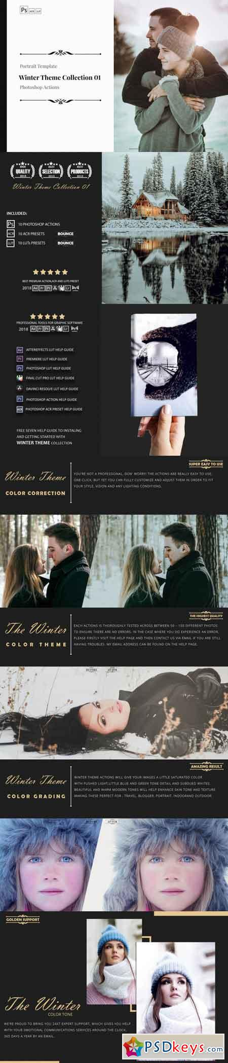 Winter Theme Color Grading Collection 01 3511395