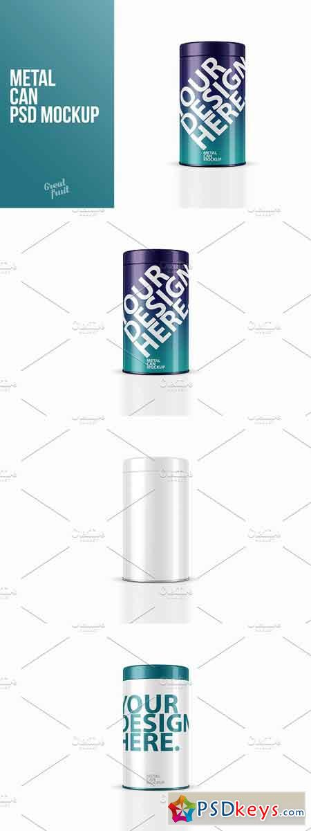 Metal CAN Packaging PSD Mockup 3210104