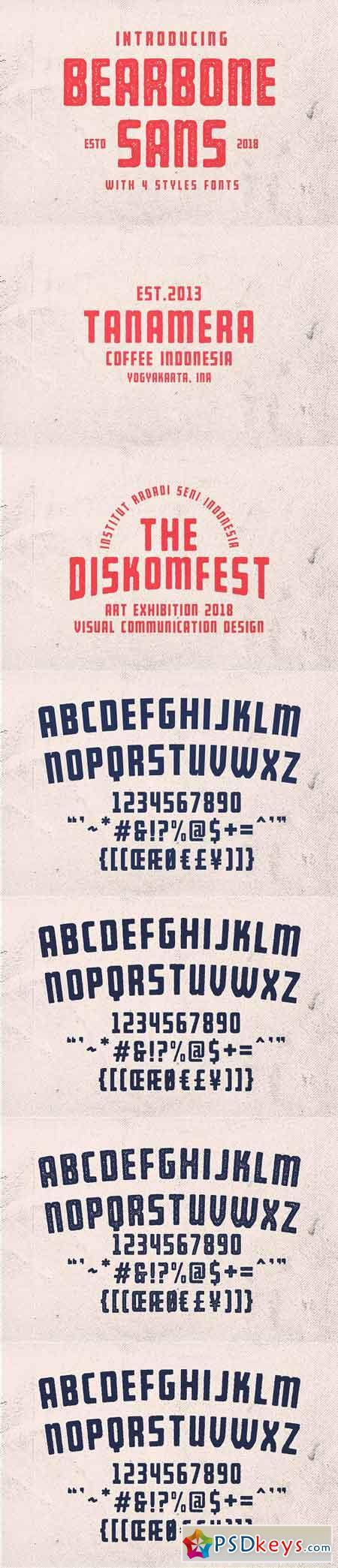 Bearbone Sans (8 Fonts!) 2934601