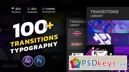 Transitions Typography Library 22551659 After Effects Template