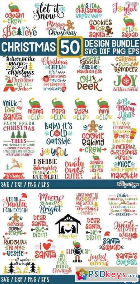 MEGA Christmas SVG Bundle 782452