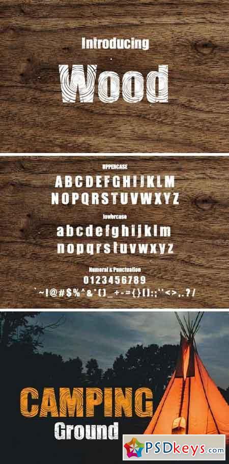 Wood Font