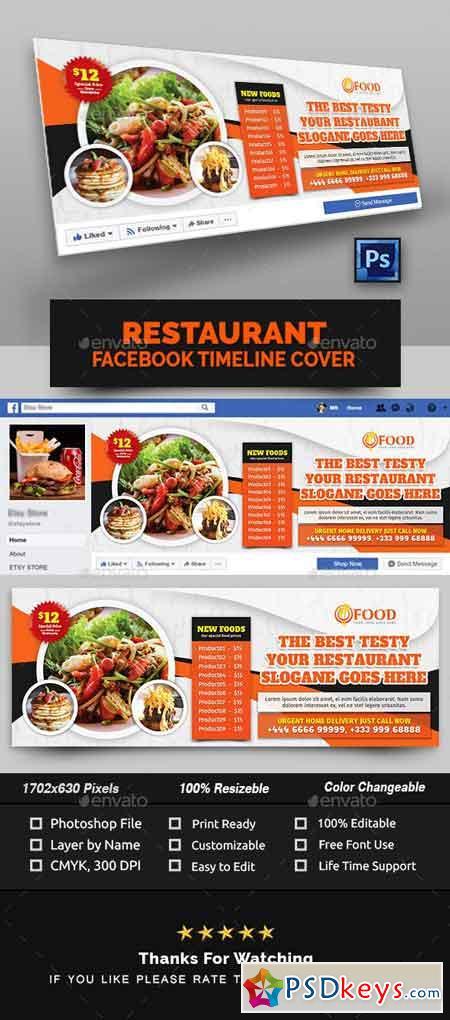 Restaurant Facebook Cover 22882504
