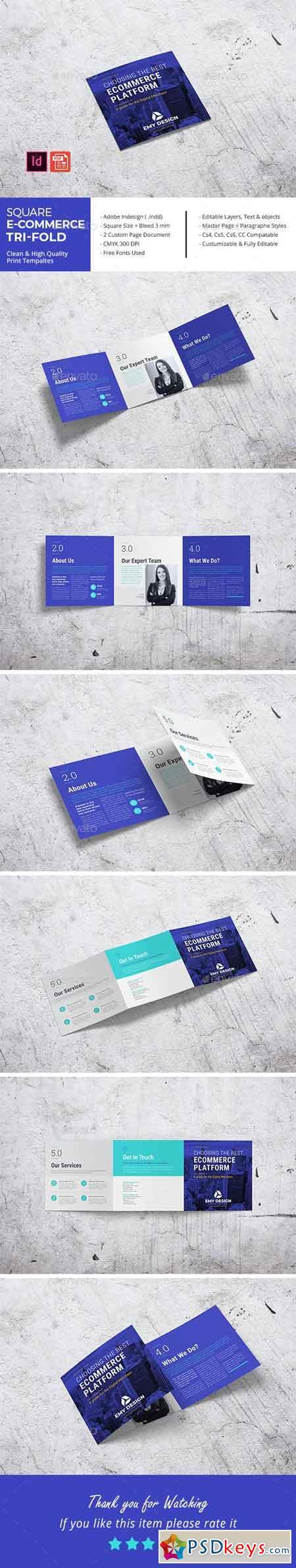 Square E-Commerce Business Tri-Fold 22881194