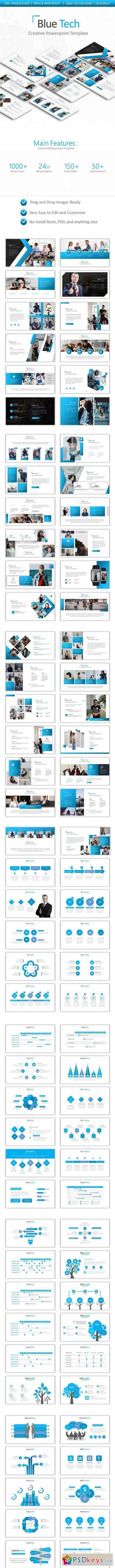 Blue Tech Powerpoint 22875554
