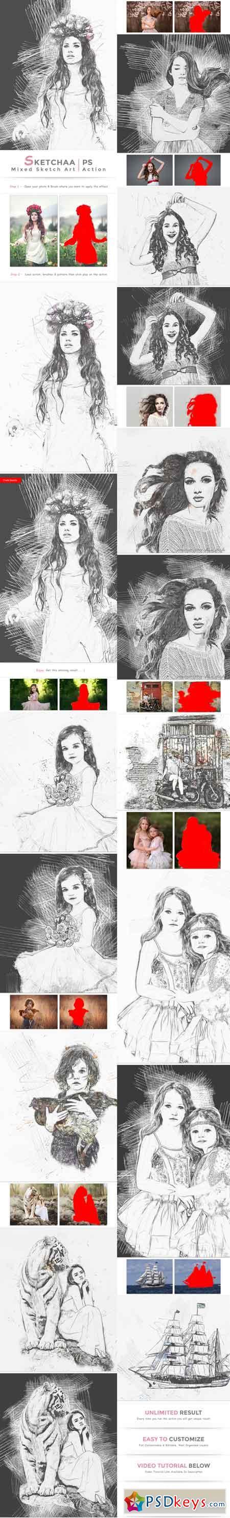 Sketchaa - Mixed Sketch Art 22863055