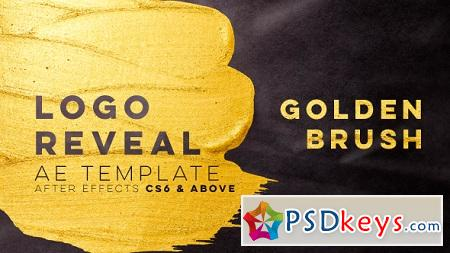 Videohive - Golden Brush Logo Reveal 21401054 After Effects Templates