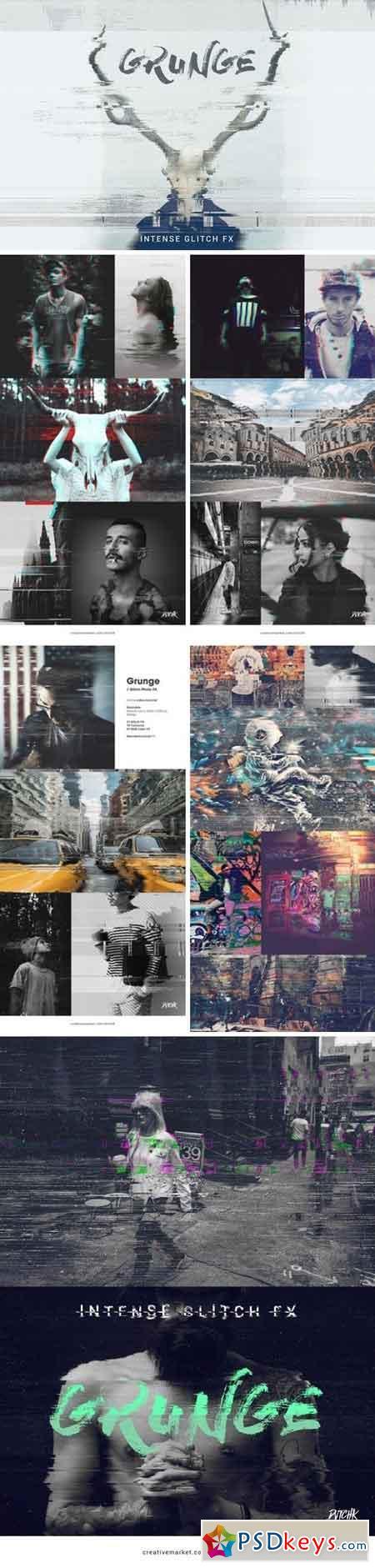 Grunge Glitch Photo FX 933453