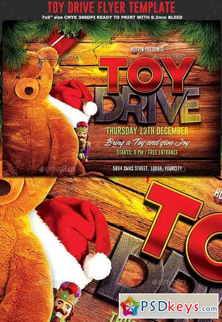 Christmas Toy Drive Flyer 22948885