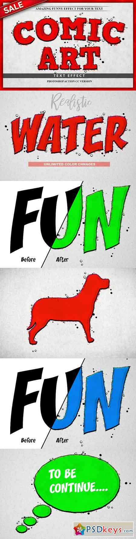 Funny Text Effect Photoshop Action 3206756