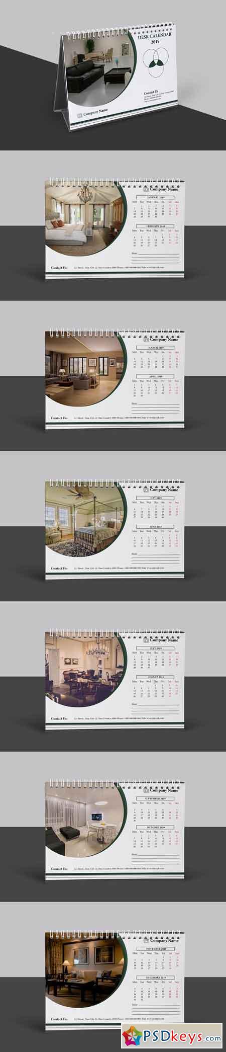 Desk Calendar 2019 3206969